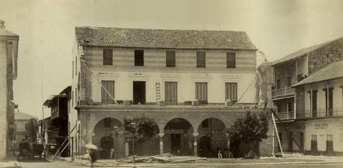 el-cabildo-de-la-Ciudad-de-Panama-con-daños-luego-del-terremoto-1882
