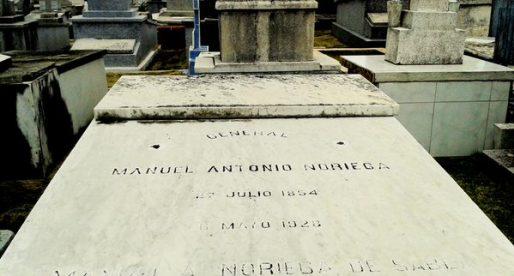 Foto curiosa: La tumba del general Manuel Antonio Noriega