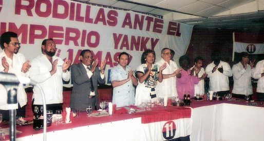Fotos de Manuel Antonio Noriega con miembros del PRD