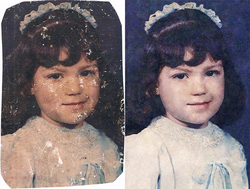Restauración de fotos viejas - Panamá Vieja Escuela